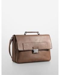 Calvin Klein Harrison Faux Leather Briefcase