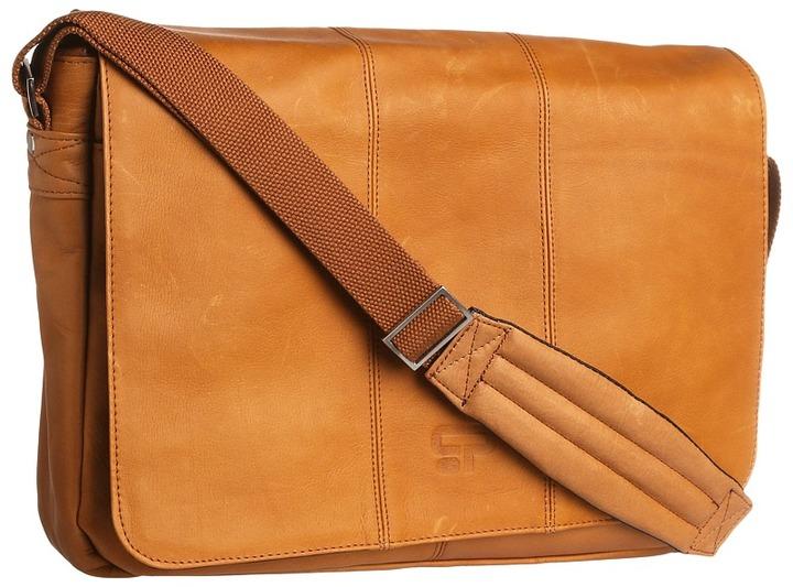 Culture Phit Leather Flapover Computer Messenger Bag