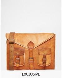 Reclaimed Vintage Leather Messenger Bag