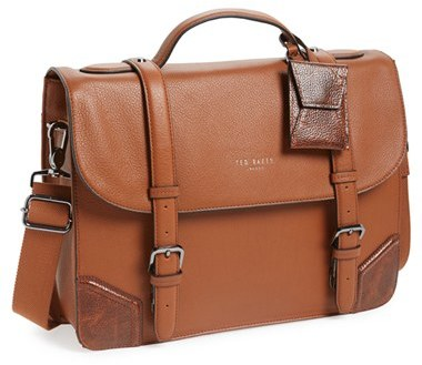 Ted Baker London Lextons Leather Messenger Bag | Where to buy ...