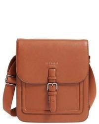 Ted Baker London Paristo Leather Messenger Bag Black