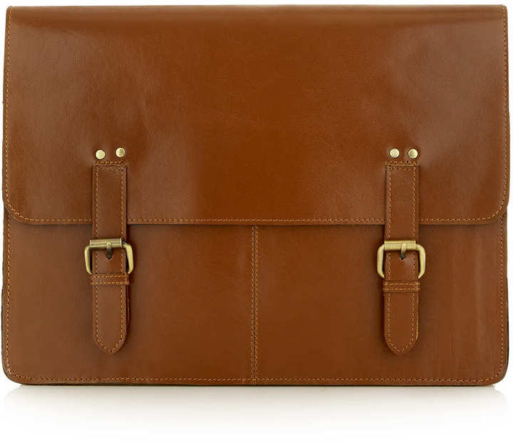 Topman Tan Leather Docut Messenger Bag | Where to buy & how to wear