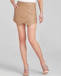 BCBGMAXAZRIA Skirt Owen Faux Leather Asymmetric