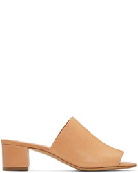 Mansur Gavriel Tan Leather Mules