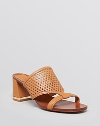Tory Burch Slide Sandals Doris Block Heel