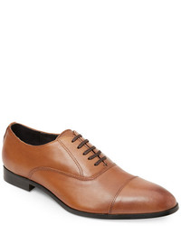 Bacco Bucci Studio Tan Leather Dress Oxfords