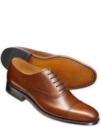 Men S Tan Leather Oxford Shoes By Charles Tyrwhitt Men S Fashion