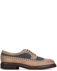 Brunello Cucinelli Wool Panel Oxford Shoes