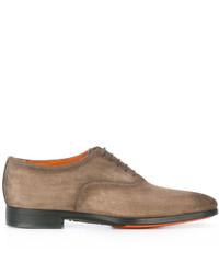 Santoni Distressed Oxford Shoes