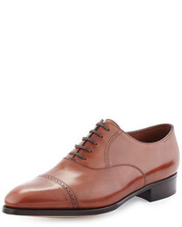 Philip ii cap toe leather oxford dark brown medium 661135