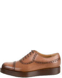 Gucci Platfrom Leather Oxfords