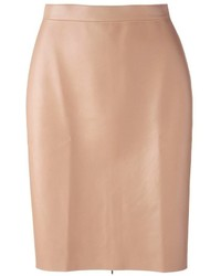 MSGM Faux Leather Pencil Skirt