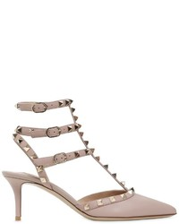 Valentino 65mm Rockstud Leather Pumps