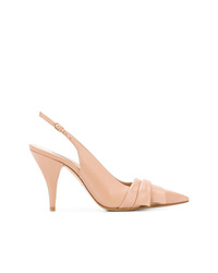 Casadei Draped Pointed Slingback Sandals