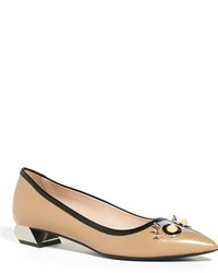 Fendi Faces Pointed Toe Pump
