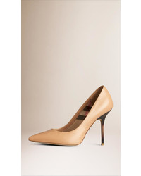 Burberry Hand Painted Point Toe Leather Pumps