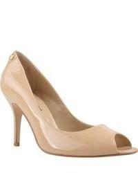 J. Renee Evon Nude Patent Leather High Heels