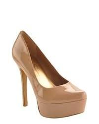 Jessica Simpson Waleo Nude Patent Leather High Heels
