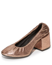 Maison Margiela Mm6 Elastic Metallic Pumps