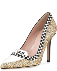 Kate Spade New York Lexi Taxi Glitterpatent Pump Gold