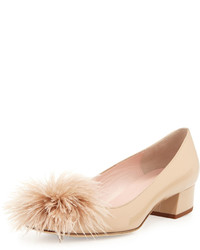 Kate Spade New York Melinda Patent Feather Pump Powder