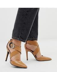 New Look Point Heel In Camel