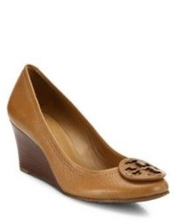 Tory Burch Sally Leather Wedge Pumps