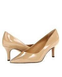 Trotters Alexa High Heels Nude Patent Leather