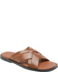 Rockport Beach Affair Multi Straps Tan Full Grain Leather Sandals