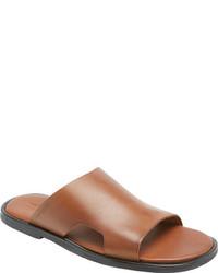 Rockport Beach Affair Solid Slide Tan Full Grain Leather Sandals