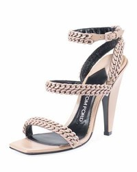 Tom Ford Chain Strappy 105mm Sandal Beige