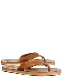 Brooks Brothers Leather Flip Flops