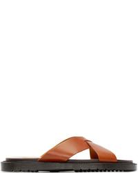 Dr. Martens Tan Leather Platt Sandal