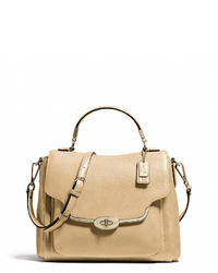 Tan Leather Satchel Bag