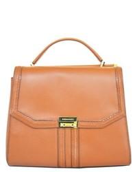 BCBGeneration Allie Small Cognac Leather Satchel