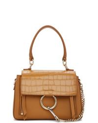 Chloé Brown Mini Croc Faye Day Bag