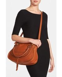 Chlo¨¦ Chloe Marcie Medium Satchel Bag Tan | Where to buy \u0026amp; how to wear