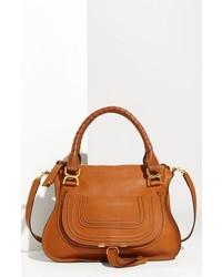 Chloe medium marcie leather satchel black medium 125014