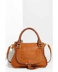 Chloe medium marcie leather satchel white medium 125014