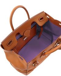 e6232e4267 $2,500, Ralph Lauren Soft Ricky 33 Soft Calfskin Satchel Bag Tan
