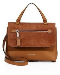 Marc Jacobs Waverly Small Leather Suede Top Handle Satchel