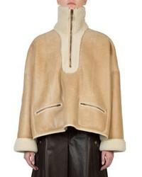 Chloé Chloe Faux Shearling Leather Jacket