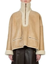 Chloé Chloe Faux Shearling Leather Jacket