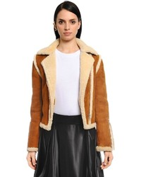 Shearling leather jacket medium 4418513