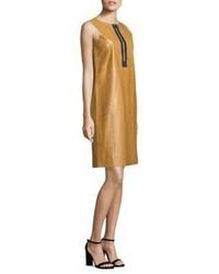 Lafayette 148 New York Ashby Leather Shift Dress