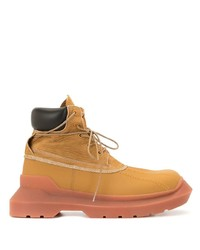 Tan Leather Snow Boots