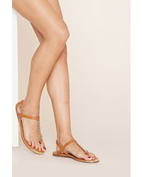 Forever 21 Chain Faux Leather Sandals