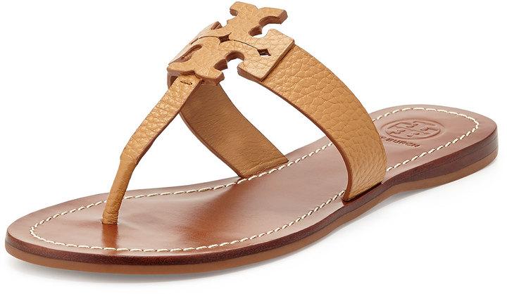 009994d531397d ... hot tory burch moore leather thong sandal royal tan 3e050 ced09