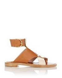 Thakoon Asymmetric Strap Sandals Brown