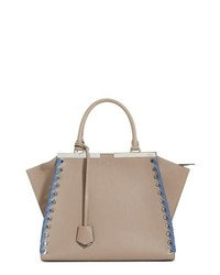 Fendi 3jours Calfskin Leather Shopper